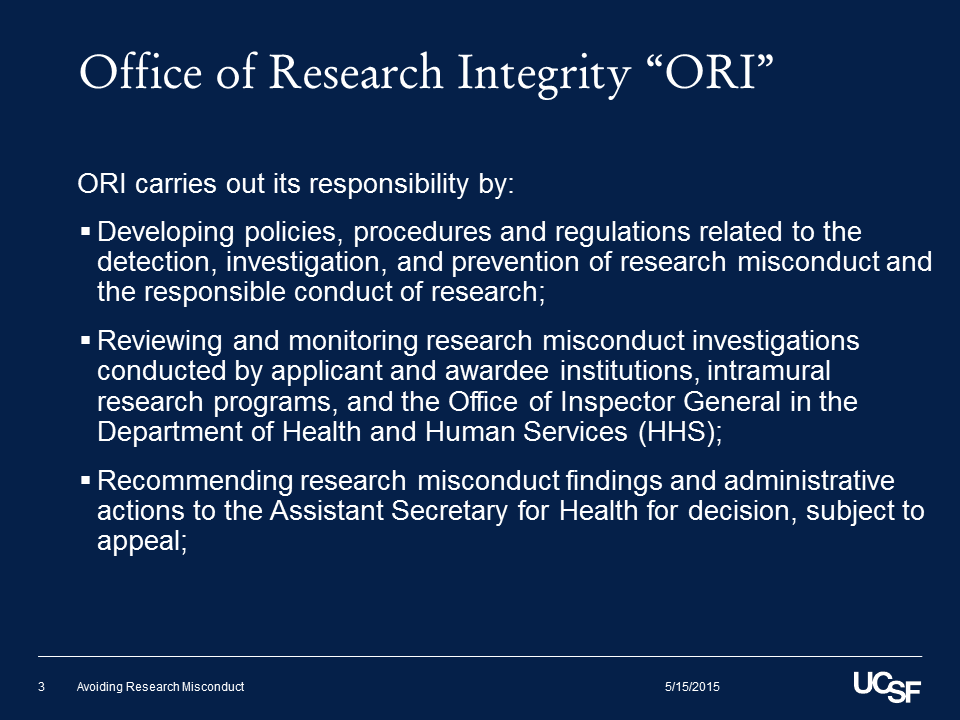 """Office of Research Integrity """"ORI"""" (2)"""