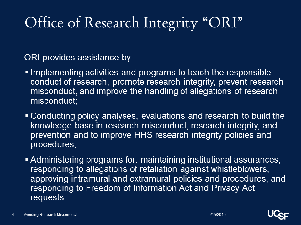 """Office of Research Integrity """"ORI"""" (3)"""