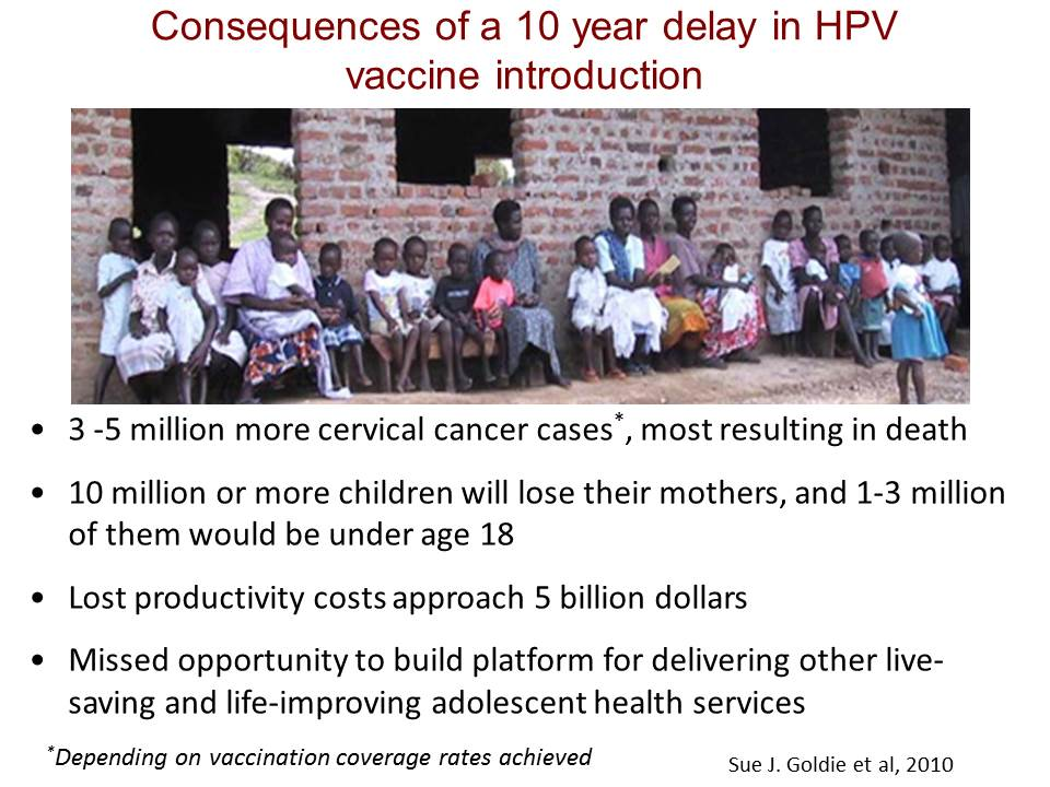 Consequences of a 10 year delay in HPV vaccine introduction