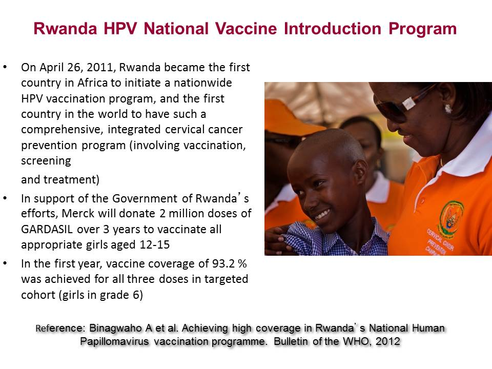 Rwanda HPV National Vaccine Introduction Program