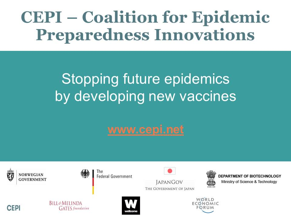 CEPI – Coalition for Epidemic Preparedness Innovations