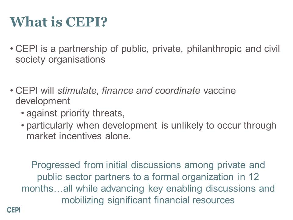 What is CEPI?