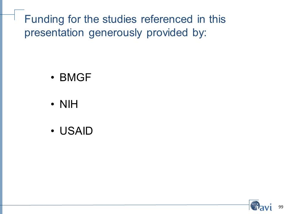 Funding for the studies referenced in this  presentation generously provided by: