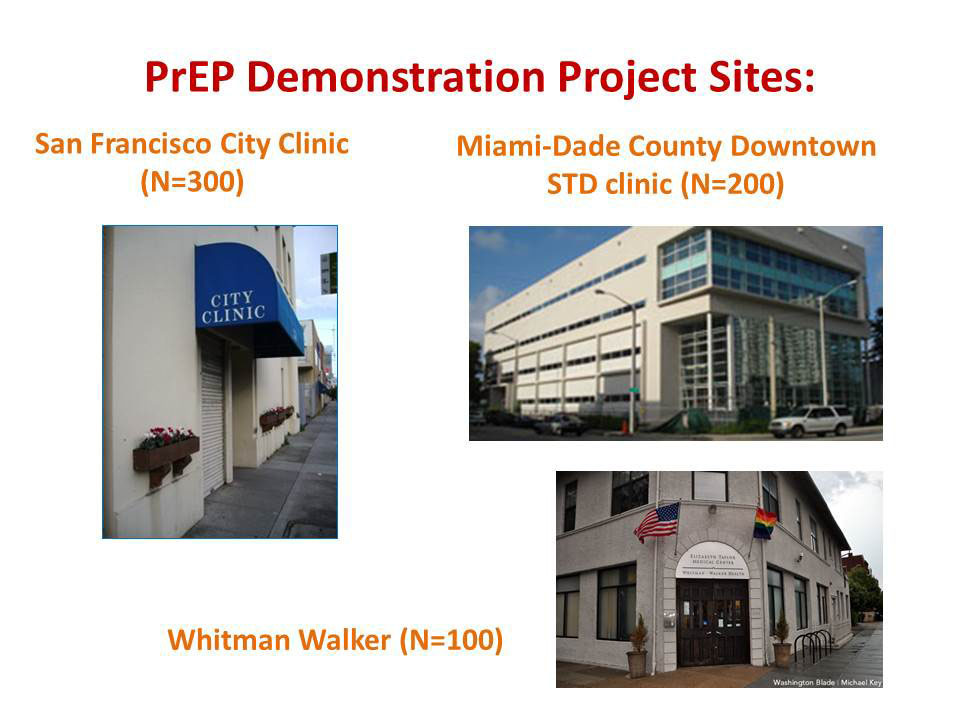 PrEP Demonstration Project Sites