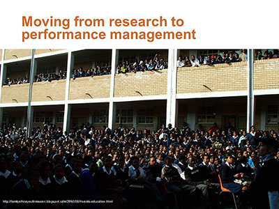 Moving from research to performance management