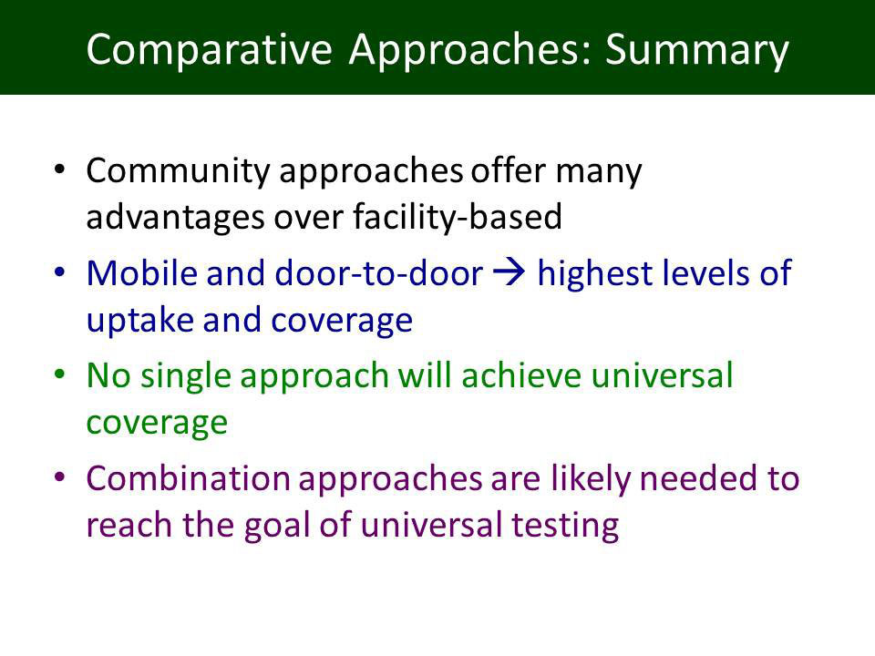 Comparative Approaches: Summary