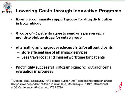 Lowering Costs through Innovative Programs