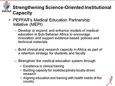 Strengthening Sciences-Oriented Institutional Capacity