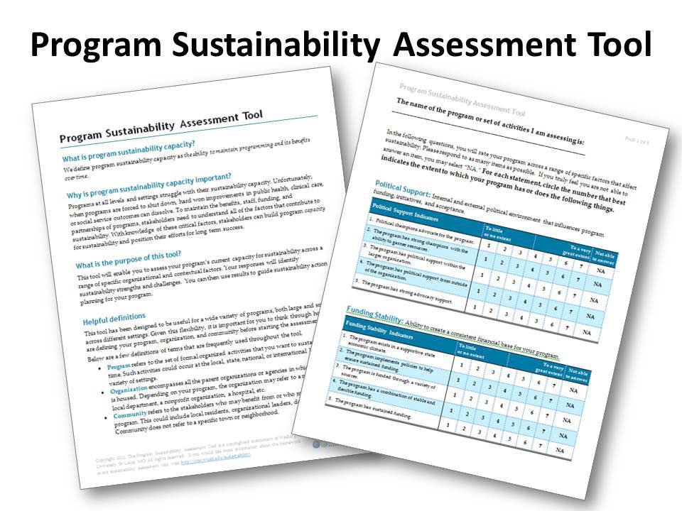 Program Sustainability Assessment Tool
