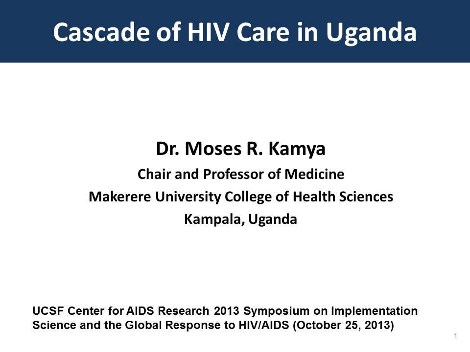 Cascade of HIV Care in Uganda