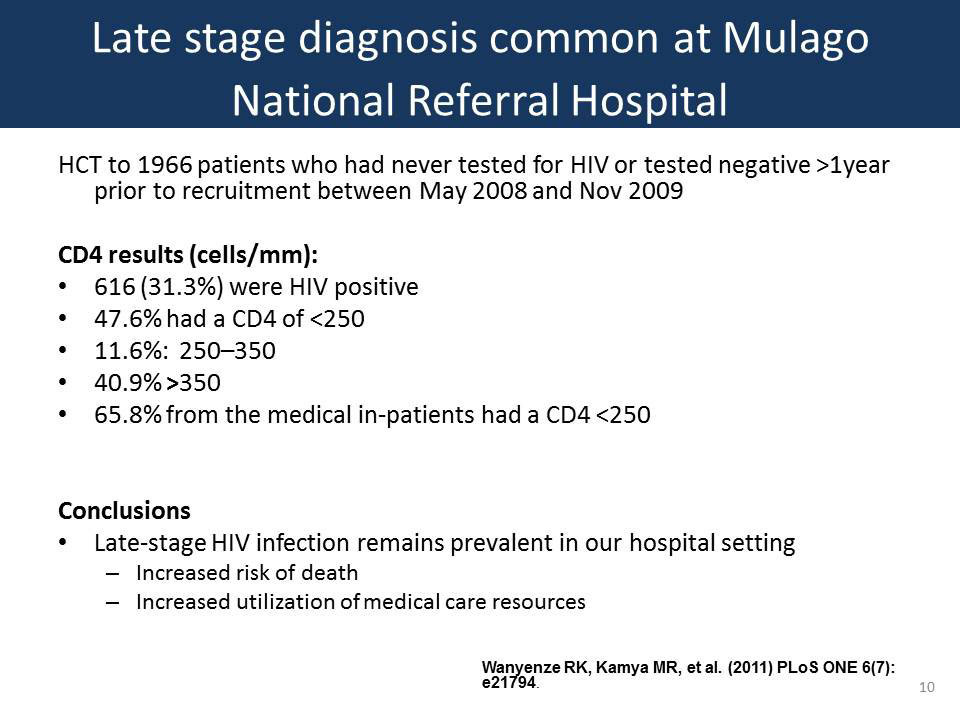 Late stage diagnosis common in Mulago National Referral Hospital