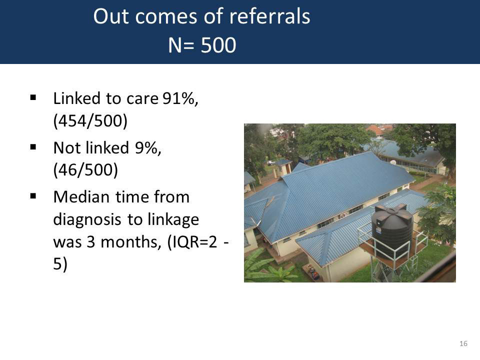 Outcomes of referrals N= 500
