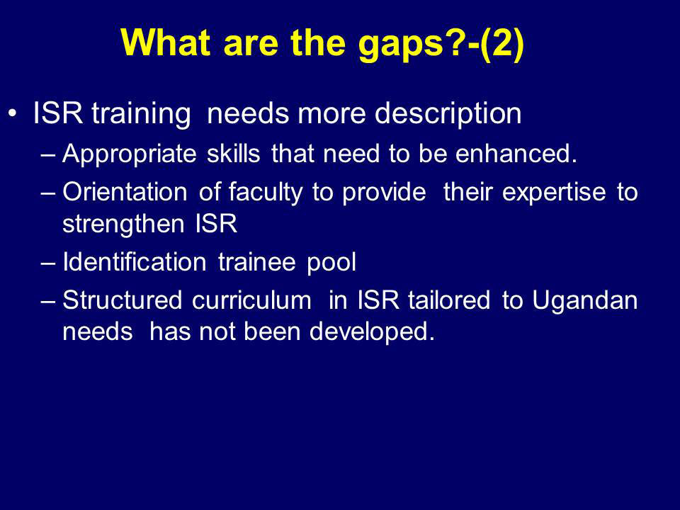 What are the gaps?-(2)