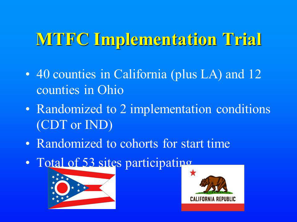 MTFC Implementation Trial