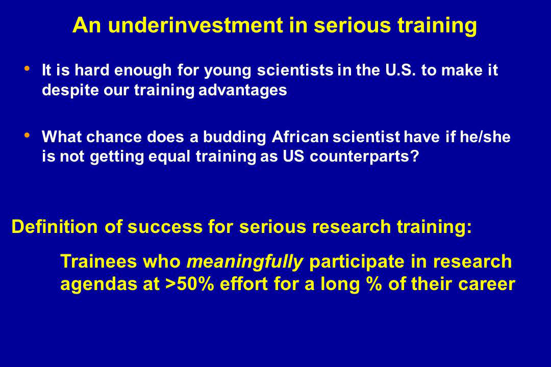 An underinvestment in serious training
