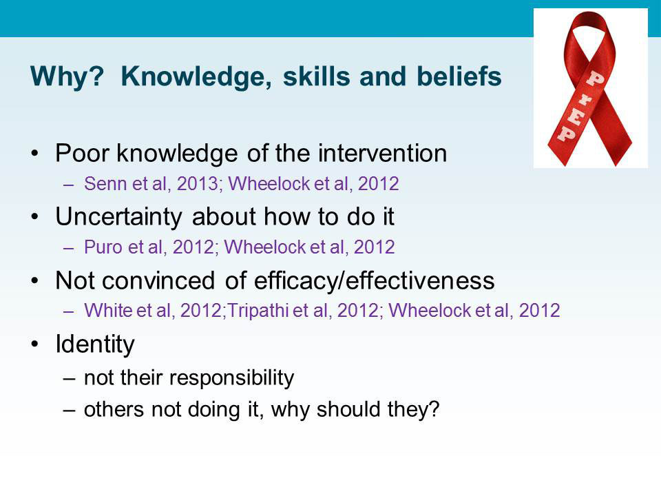 Why? Knowledge, skills and beliefs