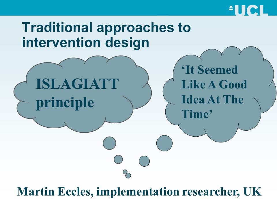Traditional approaches to intervention design