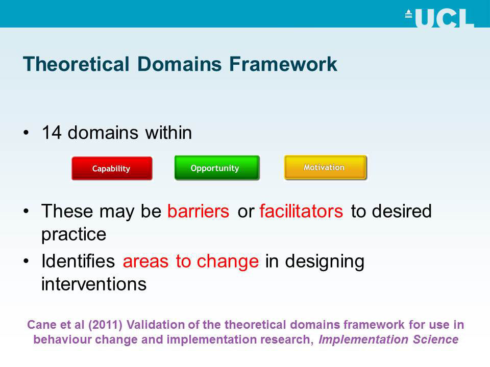 Theoretical Domains Framework