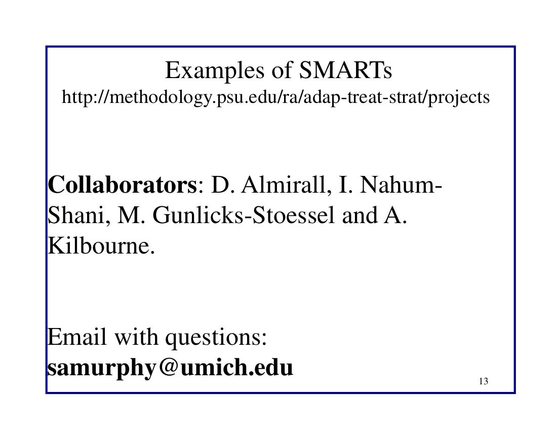 Examples of SMARTs
