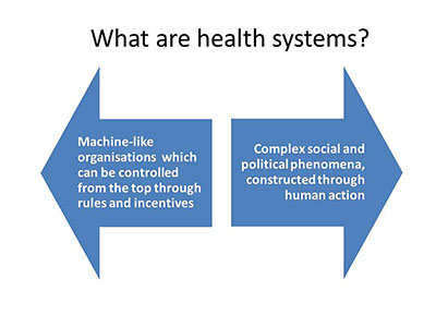 What are health systems?
