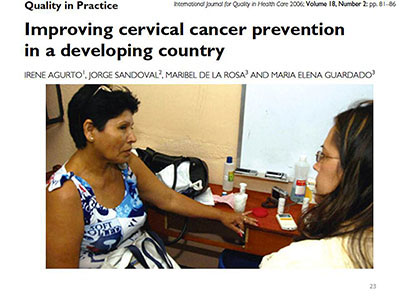 Improving cervical cancer preventation in a developing country