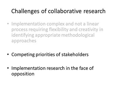 Challenges of collaborative research