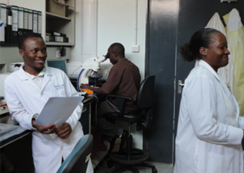 Laboratory in East Africa