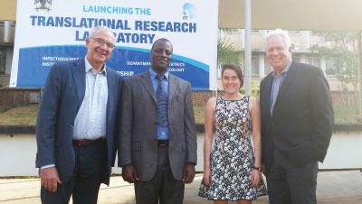 CFAR leadership at opening of Translational Research Laboratory at IDI in Uganda